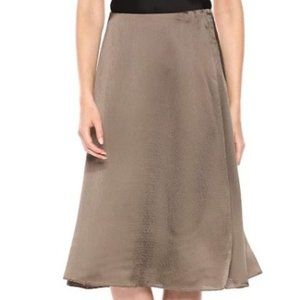 Hammered Viscose Faux Wrap Skirt NWT